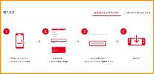 任天堂webサイトでニンテンドープリペイドカードを利用する